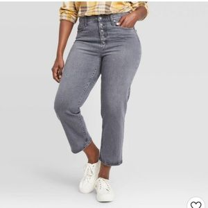 High-Rise Vintage Straight Cropped Jeans Size 10